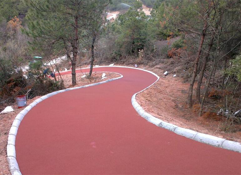 彩色防滑路面施工方案-环氧地坪漆,水性地坪漆!